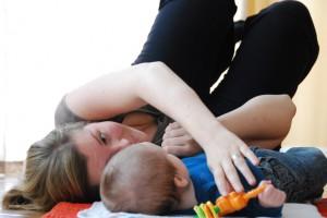 Mamma-bebis-yoga